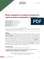 Estudo comparativo de variáveis isocinéticas do joelho de atletas de Taekwondo e Kickboxing