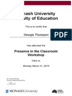 presence in the classroom