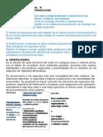 Análisis de Post Producción AMPLIADO y EJEMPLO 2014