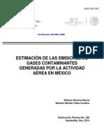 ESTIMACIÓN DE LAS EMISIONES DE GASES CONTAMINANTES GENERADAS POR LA ACTIVIDAD AÉREA EN MÉXICO