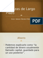 Finanzas Largo Plazo - Descripcion de conceptos