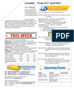newsletter week of 270415