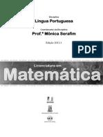 Lingua Portuguesa - Considerações sobre variaçao da lingua