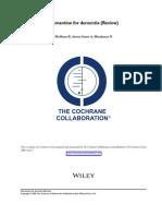 Memantine for Dementia (Review) Cochrane.