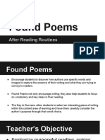 found poems presentation