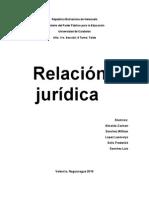 Relación Jurídica