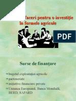 Plan de Afaceri Pentru o Investitie in Fermele Agricole