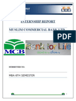 Internship Report of Mcb
