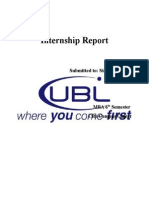 Internship Report of UBL