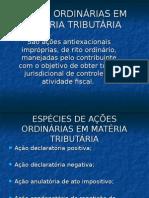 Acoes Ordinarias Em Materia Tributaria UFPE