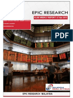 Epic Research Malaysia - Weekly KLSE Report From 27th April 2015 to 1st April 2015