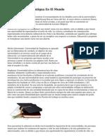 Universidad M?s Antigua En El Mundo