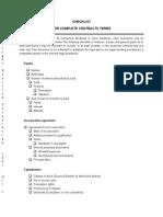 Checklist Pre-Incorporation Agreement