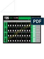 T25 Gamma Phase Calendar