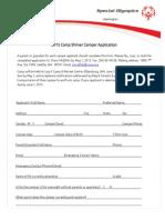 2015 Camp Shriver Camper Application