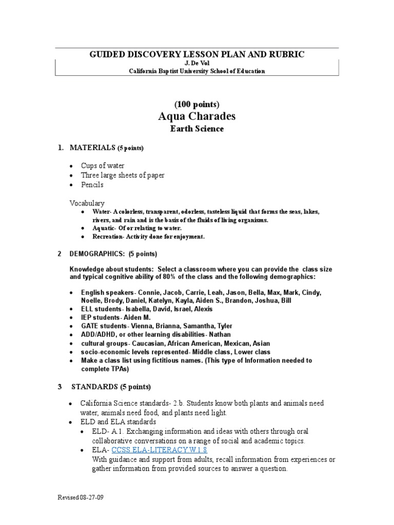 guided discovery lesson math and science homework educational rh es scribd com guided discovery lesson plan celta guided discovery lesson plan format