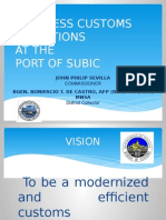 Presentation of Port of Subic collector BGen (ret) Bonifacio de Castro at the 2nd Subic Bay Maritime Conference and Exhibit