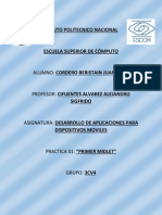 Application Development for Mobile Devices PRACTICA 1