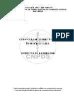 Curriculum Medicina de Laborator