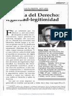 La legalidad y la legitimidad