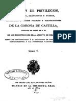 Colección de privilegios, franquezas, exenciones. Tomo 5