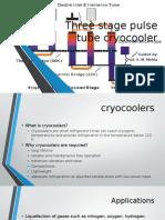 three stage pulse tube cryocoolers