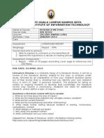 Assessment 2 Literature Report 2014