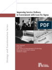 Improving Service Delivery in in Government With Lean Six Sigma