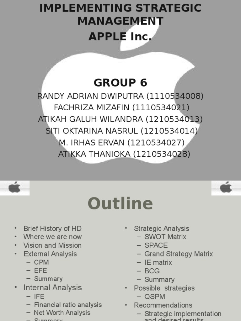 strategic project managment apple case study Strategic management and innovation in the final capstone project, you'll create and defend a holistic business strategy in response to a realistic case study.