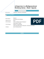 leadership project-agneda week 1