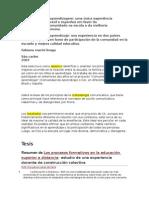 Comunidades de Aprendizaje Tesis Doctoral Brasil