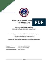 Silabo Periodismo Digital 1