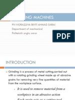 JJ104 Workshop Technology Chapter7 Grinding Machine
