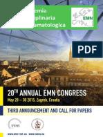 20th EMN Congress 3rd Announcement
