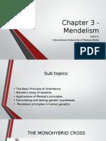 Chapter 3 - Mendelism