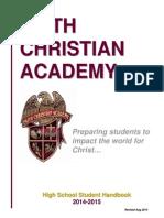 Hs Student Handbook 2014-2015