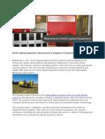 Smith Capital Equipment Press Release