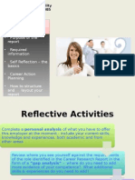 5BUS1085 Lecture 10 Career Action Plan Self Reflection Student