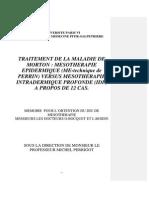Maladie de Morton Mesoterapia Perrin