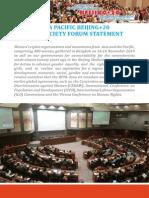Asia Pacific Beijing + 20 Civil Society Forum Statement