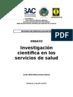 Ensayo LA INVESTIGACIÓN CIENTÍFICA EN LOS SERVICIOS DE SALUD