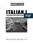 Pimsleur Italian - Booklet 1
