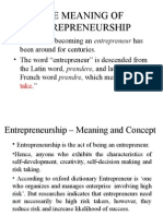 Entrepreneurship Meaning and Concept