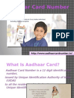 Aadhar Card Number