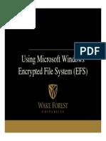EFS in Windows XP