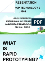 JJ205 Workshop Technology Rapid Phototyping