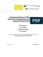 Literature Review of Physical and Chemical Pretreatment Processes for Lignocellulosic Biomass