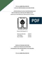 Analisis Sistem Perancangan Sistem Kerja Dan Ergonomi Pada Pengrajin Mebel Kayu