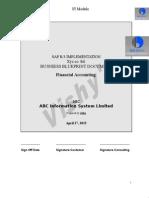 SAP FI Questionnaire