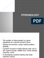 Obesity( Epidemiology & Causes)